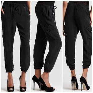 7 for all mankind silk cargo pants